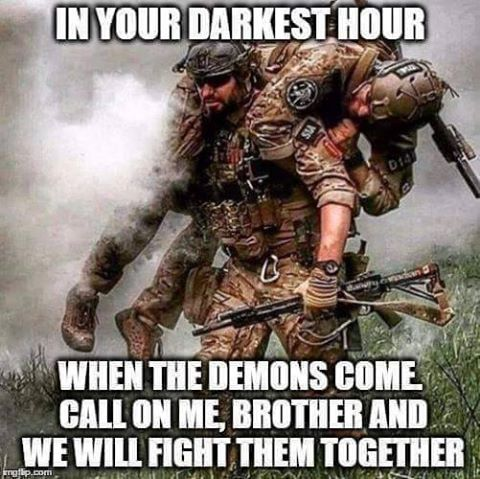 Not a marine myself, but this just embodies the whole idea of Bro's.  When you are screwed, your bro will always be there for you.