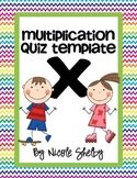 Multiplication Quiz Freebie