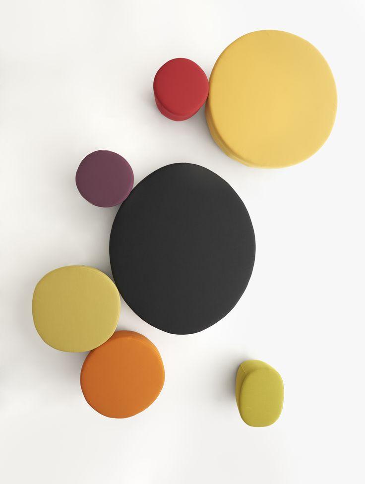 Cup pouf collection. Design by Raffaella Mangiarotti  #geometric #homeoffice #color #focusoncolor