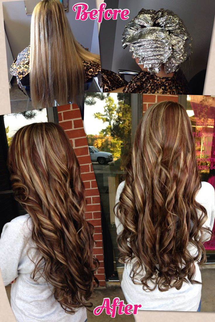 Before And After Red Blonde And Brown Hair Fallhair