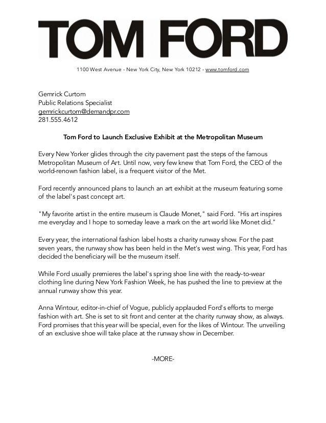 Tom Ford Media Kit Media Kit Tom Ford Ford