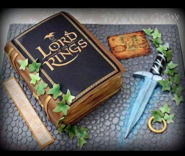Ring Cake, Book Cakes, Hobbit Cake