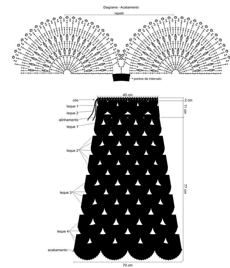 Mejores 221 imágenes de Crochet Skirt en Pinterest | Faldas de ...