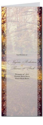 70 Wedding Programs - Autumn Fresh Lace by WeddingPaperMasters.com. $125.30. Now you can have it all! We have created, at incredible prices & outstanding quality, more than 300 gorgeous collections consisting of over 6000 beautiful pieces that are perfectly coordinated together to capture your vision without compromise. No more mixing and matching or having to compromise your look. We can provide you with one piece or an entire collection in a one stop shopping...