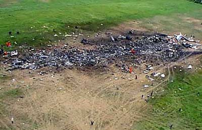 """NOT FROM  9/11......Flight 93 Impact Site      .           NOT SITE OF FLIGHT 93. This pic is making it's way around Pinterest along with a few others. There is a growing number of fake and mislabeled """"9/11"""" photos. I don't know why people do this.  Some are ridiculous, this one is just incorrect. THIS PHOTO IS FROM RUSSIA NOT IRAN PLEASE GOOGLE Vladivostok AIR Flight 352. The plane is a Tupolev TU-154M, that crashed in Burdanovka, Russia on 3rd of July, 2001.    THANK YOU!"""