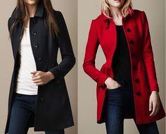 Patrón de abrigo largo entallado                                                                                                                                                                                 Más