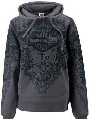 Harley-Davidson Womens Tribal Wings All-Over Print Pullover Hoodie Sweatshirt