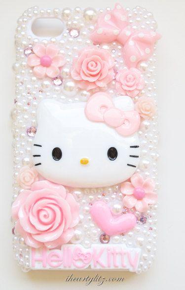 iPhone 4 4s Pink kawaii Girly deco phone case por iheartglitz