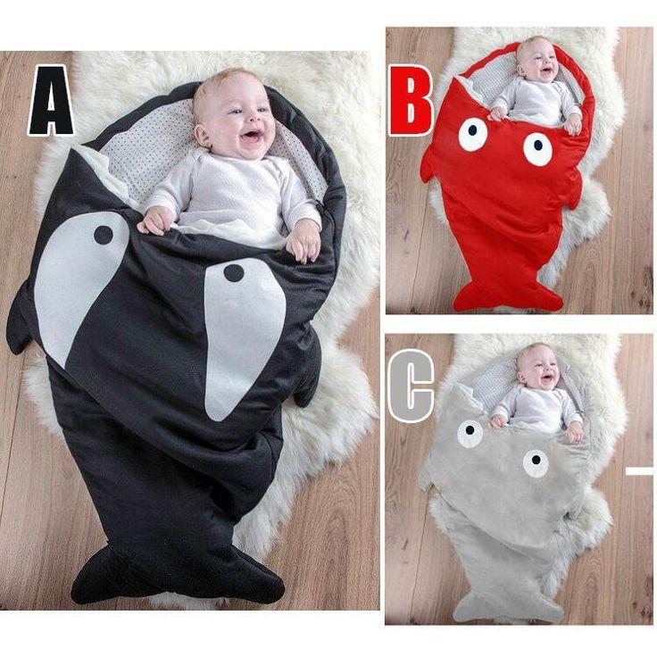 Best Crochet Sleeping Bags Images On Pinterest Baby Cocoon - Sleeping bag shark