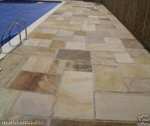 Calibrated Mint Fossil Indian Sandstone Paving Patio Packs