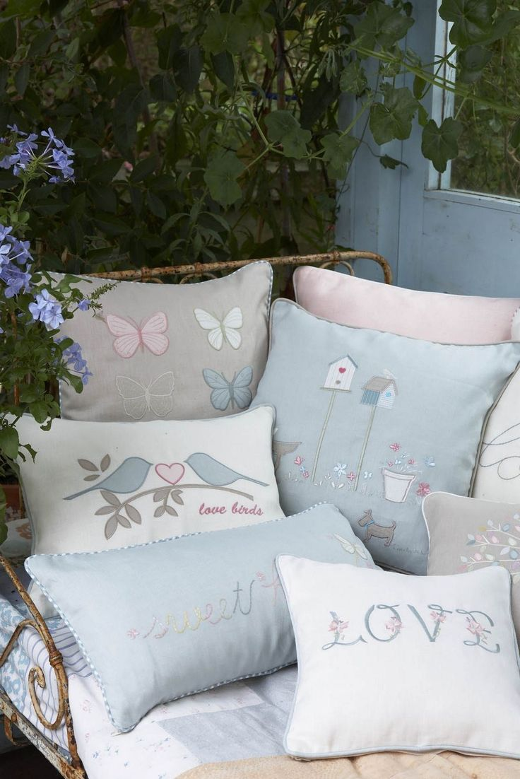 .pastel pillows with cute motives
