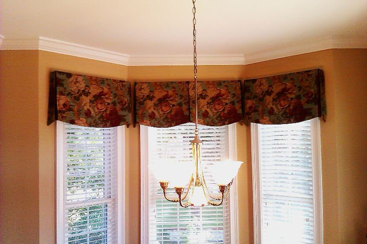 Tailored Valance Arund A Bay Window Valance Pinterest
