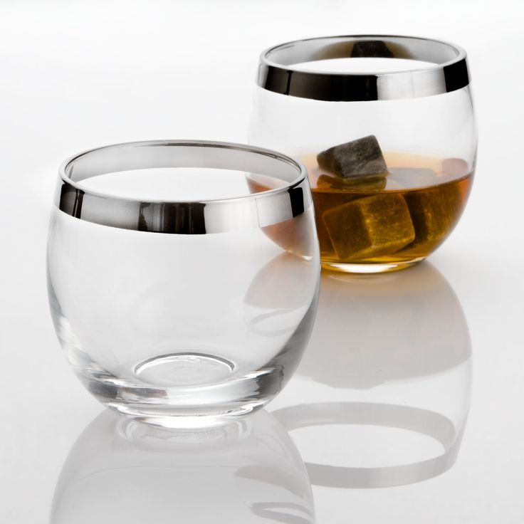 Why do I want these? They must remind me of my childhood - and all the scotch. Executive Whiskey Glasses - Set of 2 | dotandbo.com
