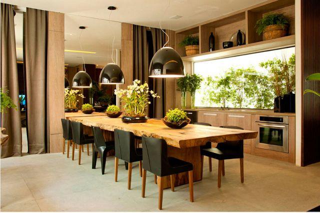 Mesa rustica cadeira moderna cozinha dos sonhos for Casas contemporaneas rusticas