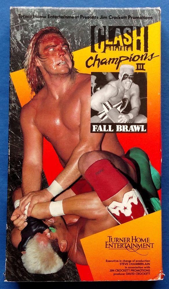 Clash Of The Champions III VHS Fall Brawl Non-Rental Dusty Rhodes NWA Wrestling