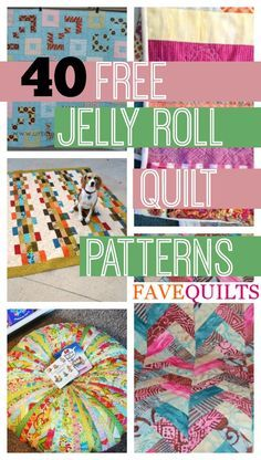 40 Free Jelly Roll Quilt Patterns + 5 New Jelly Roll Quilts. Sew beautiful quilts with these free quilt patterns for jelly rolls.                                                                                                                                                                                 More