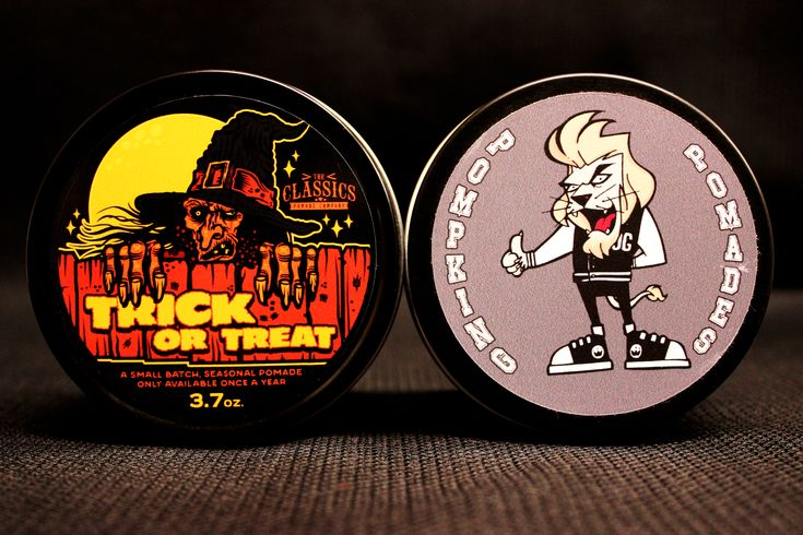 Trick or Treat was #theclassics #pomade seasonal. A small batch that is available only once a year. I still have a couple available for you of the oil based firm with a #bonfire fragrance. The other is a strong hold with a neutral shine by way of #pompking A spicy, cultural blend of crushed #cloves, #cinnamon sticks, and crisp #pine needles, with a sweet #orange freshness. #theclassicsneverdie #pompkingpomades #pomade #mpomade Pomade.com