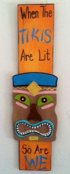 Cute sign  Tiki man sign by QuteSigns4U on Etsy, $25.00