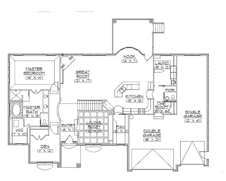 1000 images about rambler plans on pinterest 3 car for Rambler house plans with bonus room