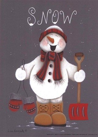 Snow Happy by Lisa Kennedy art print