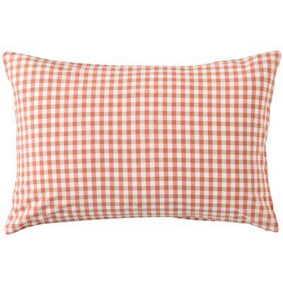 Muji / pillow case / pink check
