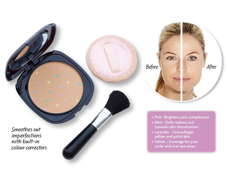 This #mineral foundation & concealer is made with built-in colour correctors