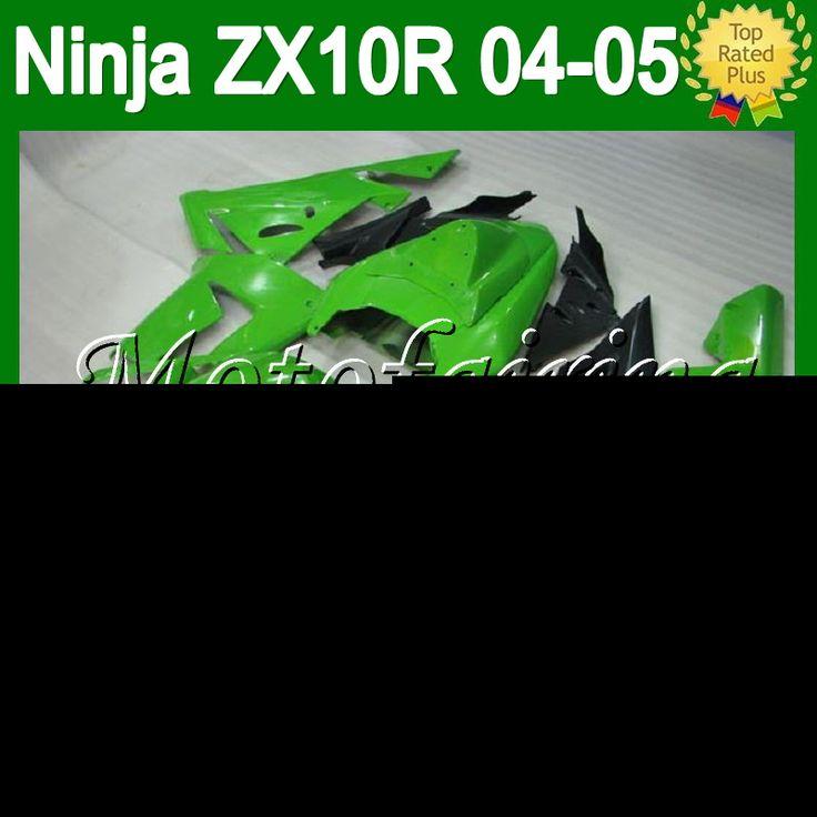 Зеленый черный 7 подарки + для KAWASAKI ZX-10R ниндзя 2004 2005 тела блеск для губ зеленый C1941 ZX 10R ZX 10 R ZX10R 04 - 05 04 05 зализа комплект