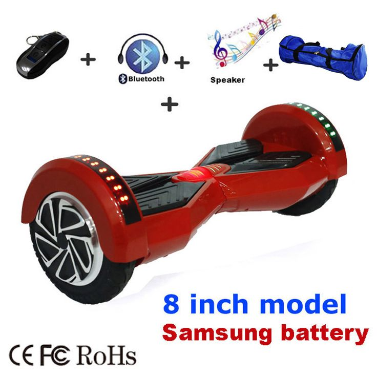 Bluetooth speaker Hoverboard Self Balancing 8 & 6.5 inch Electric Skateboard Hover Board gyroscope Standing Electric Scooter //Price: $221.95//     #Gadget