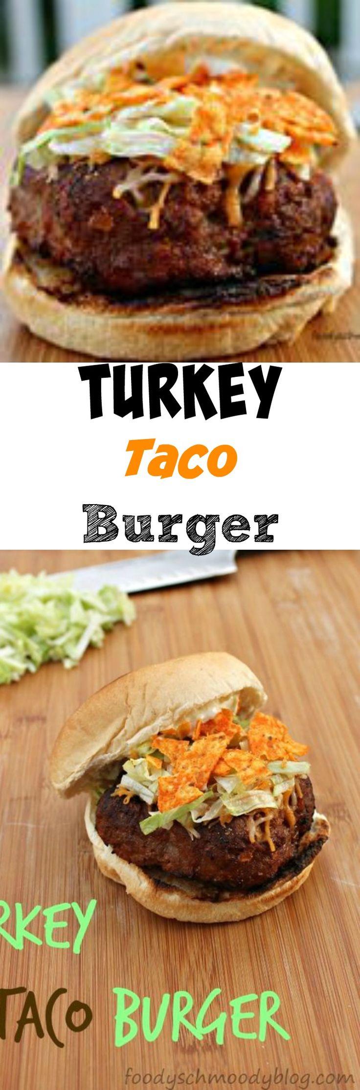 Turkey Taco Burger - Finally a turkey burger worth making! Lots of great flavor - totally kid friendly.