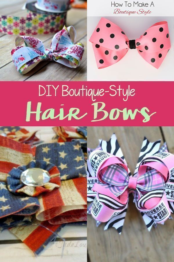 DIY Boutique Style Hair Bow Tutorials.