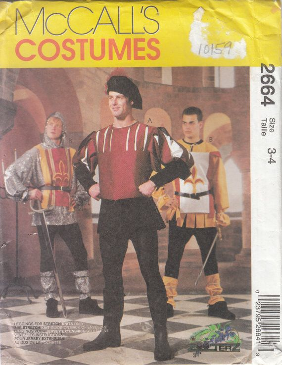 McCalls 2664 Boys Medieval Renaissance Garb Doublet by CedarSewing