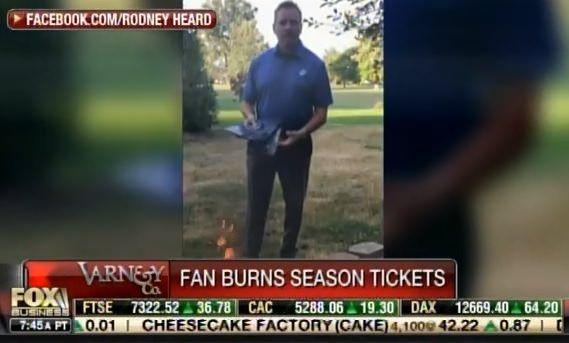 NFL Fan Rodney Heard - a Marine Veteran - Burns $4000 Worth of NFL Tickets Online (VIDEO)