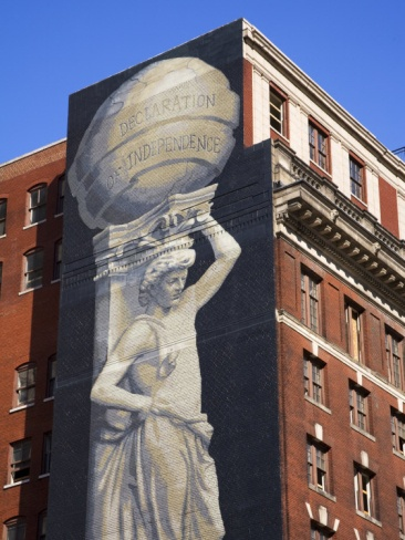 Mural on Arch Street, Philadelphia, Pennsylvania, United States of America, North America Photographic Print by Richard Cummins at Art.com
