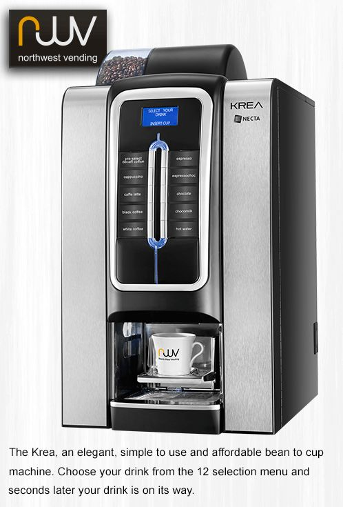 Necta Krea, an elegant and affordable bean to cup machine. Perfect espresso based drinks, consistently delivered time after time. #N&WKrea, #Necta, #coffee, #beantocup