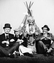 """The Beverly Hillbillies"" Buddy Ebsen, Irene Ryan, Kathleen Freeman, Phil Silvers circa 1966"