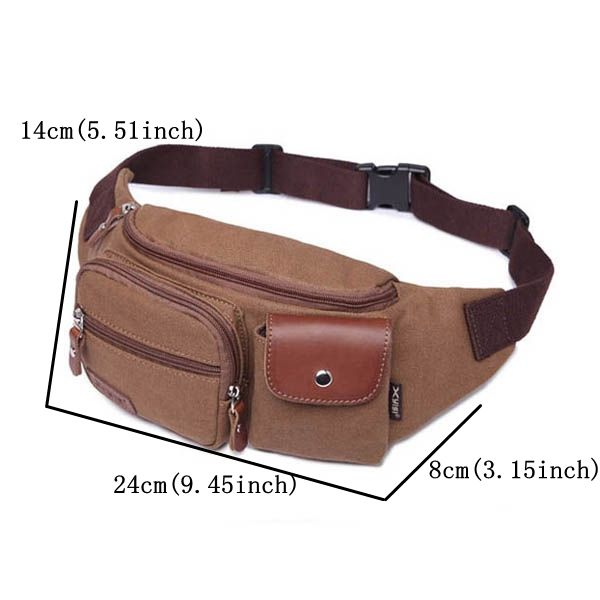 Men Business Casual Canvas Multifunctional Portable Crossbody Bags Waist Bag is worth buying - NewChic