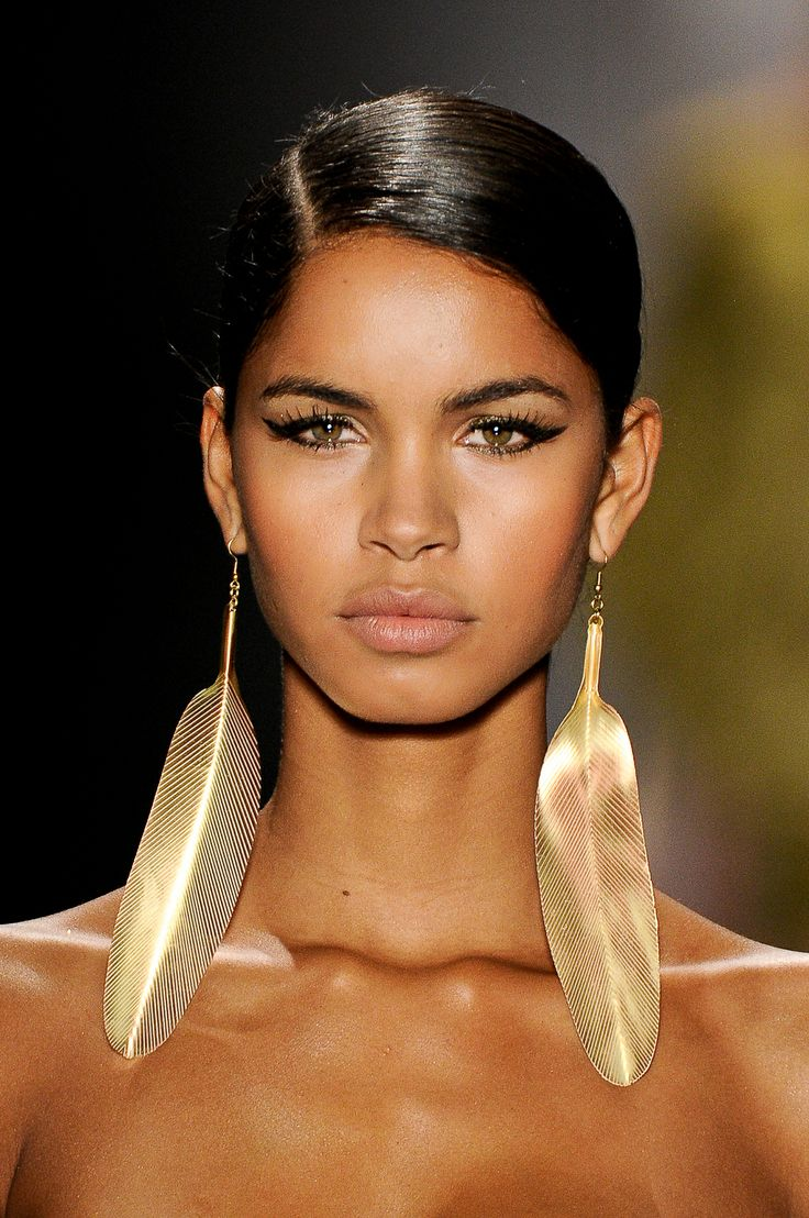 Agua de CoCo 2014 Collection Gold Leaf Earring runway accessories