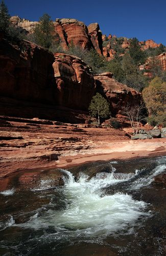 Slide Rock Park, Arizona by dracobotanicus, via Flickr