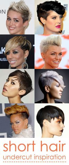 Short Hair Inspiration: Undercut [cable car couture image consulting] An undercut is defined by longer layers on top and a shorter buzz on the sides and back. It's got an edginess that can't be denied.