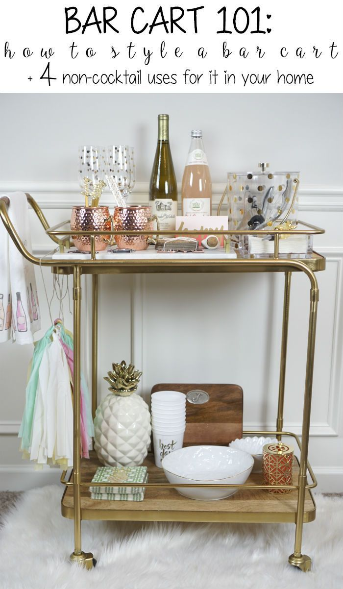 bar cart 101 - How to style your bar cart plus 4 non-traditional ways to use it in your home! @SCxo