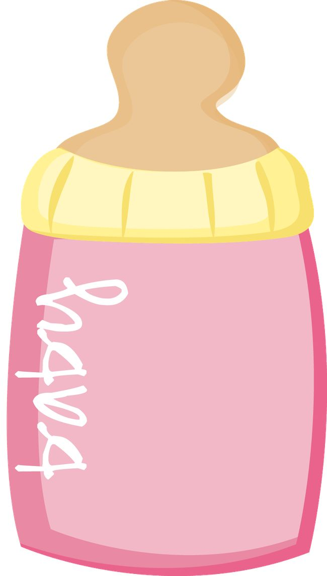 Cute Clipart ❤ Baby Pink Bottle for Shower Invitations Minus - Say Hello!