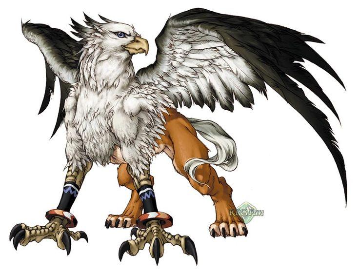 Half Dragon Lion Griffin Bird An Mythical Creatures