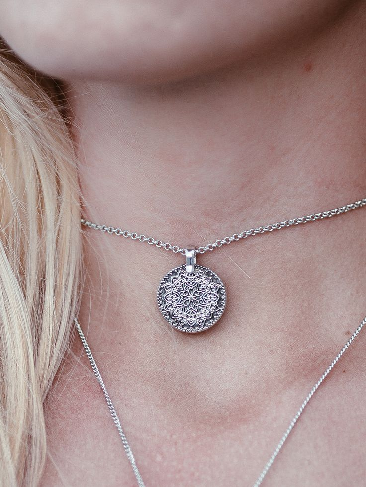 ∘✥∘ Mandala Dreams ∘✥∘ Shop this stunning bohemian gypsy treasure in silver, gold or rose gold tone now at www.shopdixi.com ✵ Visit www.shopdixi.com to shop ✵