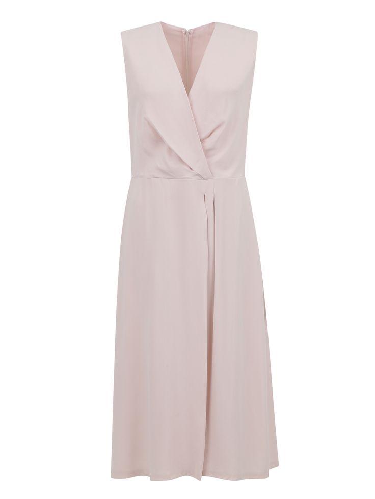 Купить со скидкой Hugo Boss розовое платье-миди с драпировкой (199034) – распродажа в Боско Аутлет