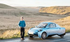 'It's a no-brainer': are hydrogen cars the future? Inventor Hugo Spowers has a dream: to replace today's cars with his own hydrogen prototype. Is the world ready? Oliver Franklin-Wallis, The Guardian, 20 January 2018 05.00 EST) Caption: Hugo Spowers and his hydrogen-powered car in the Elan Valley, Wales