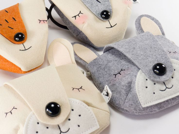 How cute are these Felt Fox Bags! We think they're adorable and they come in two colours.