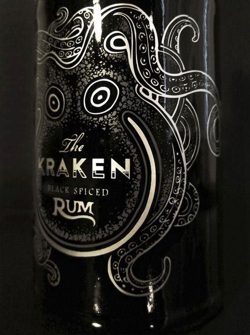 The Kraken Rum Redesign by Cedrik Ferrer, via Behance