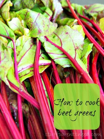 Colorful, thrifty side dish: how to cook beet greens.--I am going to try this today since I got a beet in our Bountiful Basket this week and had no idea what to do with it.