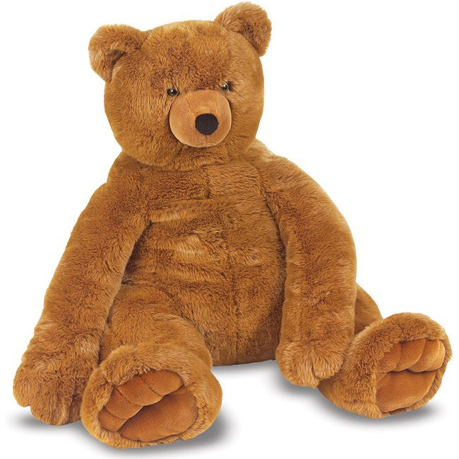 This beautiful brown bear is over two feet in every dimension.  With excellent quality construction, this fabulous bear features soft, furry fabric and has a classic teddy bear look.