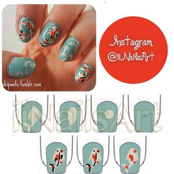 Photo by iiNailsArt(iinailsart): Fish nail art